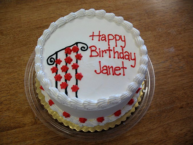 Happy Birthday Janet Cake
