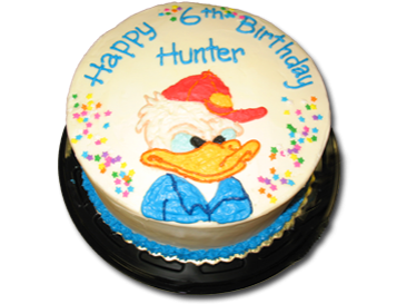 Donald Duck Cake in traditional cake or ice cream