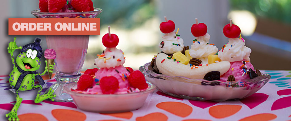 Ice Cream Sundae - Order ONLINE from the Frosty Frog Creamery & Cafe